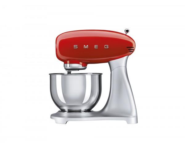 SMEG Küchenmaschine mit 4,8 l Edelstahlschüssel, Rot, Planet-Rührwerk, Direkt-Drive Motor, 10 Geschw