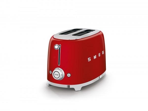 SMEG Toaster, 2 Scheiben, Rot, 6 Röstgradstufen, 3 Automatikprogramme, 950 W
