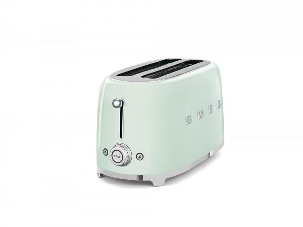 SMEG Toaster, 4 Scheiben, Pastellgrün, 6 Röstgradstufen, 3 Automatikprogramme, 1500 W