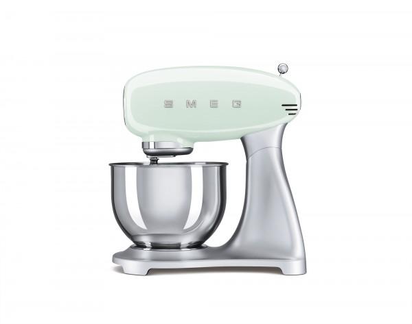 SMEG Küchenmaschine mit 4,8 l Edelstahlschüssel, Pastellgrün, Planet-Rührwerk, Direkt-Drive Motor, 1
