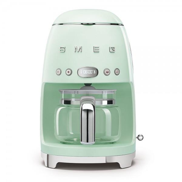 SMEG Filterkaffeemaschine, pastellgrün, 10 Tassen, 1,4l Wassertank, LED Display mit Uhr, wieder verw