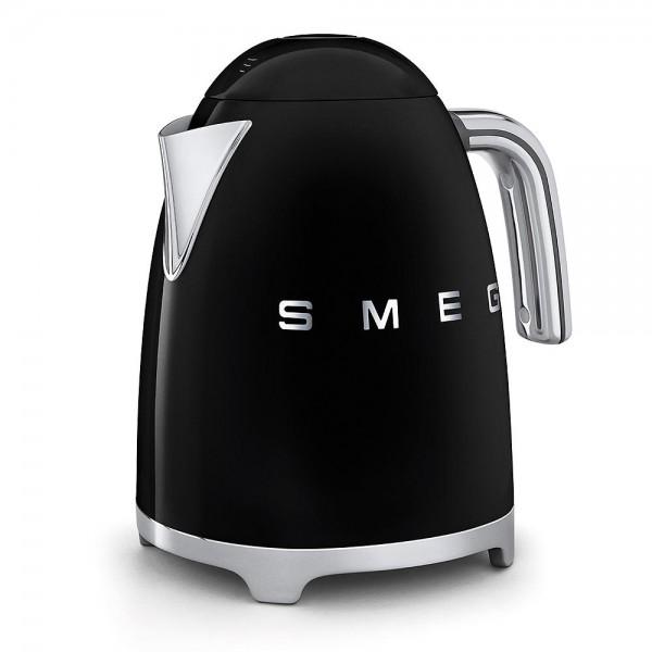 SMEG 1,7 I - Wasserkocher, Schwarz, Soft Opening Kannenverschluss, Anti-Kalkfilter, 2400 W